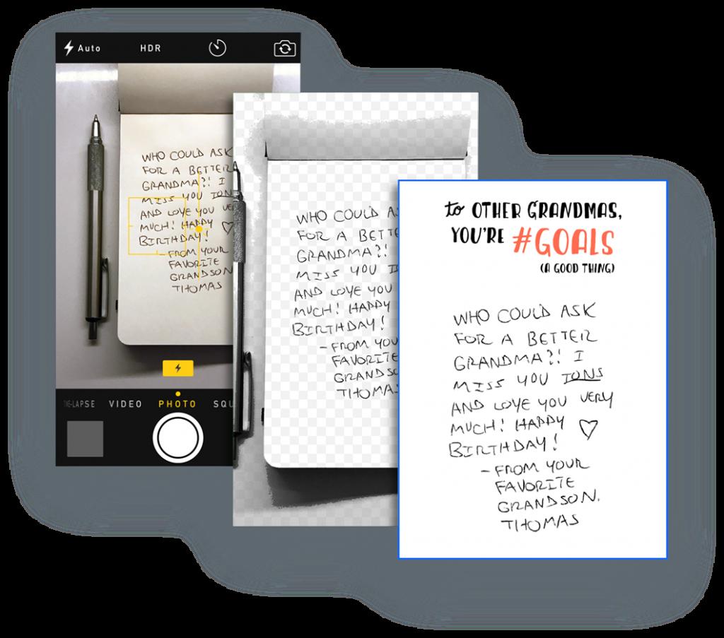 Handwritten text digitized
