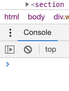 Chrome console kebab menu
